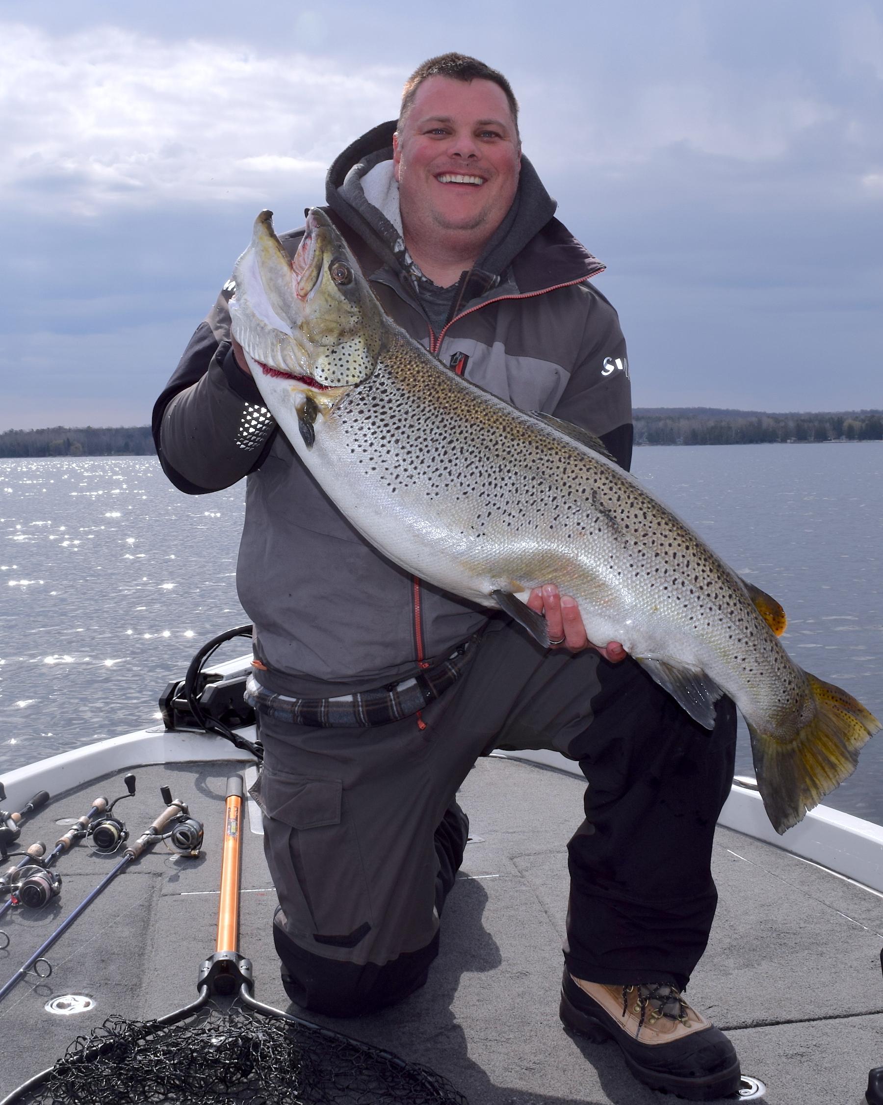 Ben Otto, 32 lb., 9 oz. brown trout, 4-24-21